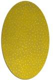 rug #535797   oval yellow animal rug
