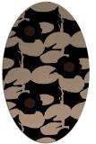 rug #537269 | oval black natural rug