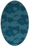 rug #537305 | oval blue-green rug