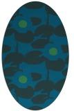 rug #537337   oval blue popular rug