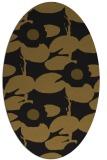 rug #537373 | oval mid-brown natural rug
