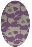 rug #537437   oval purple popular rug