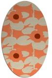 rug #537453 | oval beige natural rug