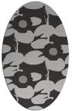 rug #537457 | oval red-orange rug