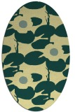 rug #537461 | oval yellow natural rug