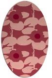 rug #537473 | oval pink natural rug