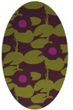 rug #537485   oval purple natural rug