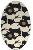 rug #537565 | oval black natural rug