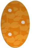 rug #537601 | oval light-orange popular rug