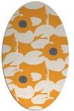 rug #537605   oval light-orange natural rug