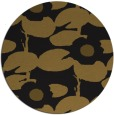 rug #538077 | round mid-brown natural rug
