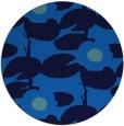 rug #538129 | round blue natural rug