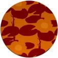 rug #538149 | round red-orange popular rug