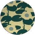 rug #538165 | round yellow rug