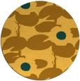 rug #538265 | round light-orange natural rug
