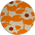 rug #538277 | round beige natural rug