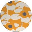 rug #538309 | round light-orange natural rug