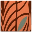 rug #538865 | square red-orange abstract rug
