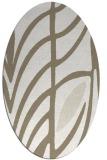 rug #539017 | oval white abstract rug