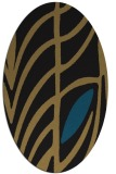 rug #539037   oval brown graphic rug