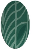 rug #539073   oval blue-green abstract rug