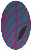 rug #539081   oval pink abstract rug