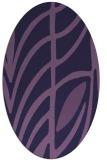 rug #539113 | oval purple rug