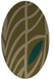 rug #539137   oval brown graphic rug