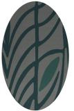 rug #539145   oval blue-green natural rug