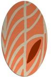 rug #539213 | oval orange popular rug