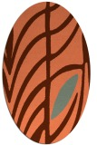 rug #539217 | oval red-orange abstract rug