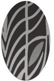 rug #539217 | oval orange graphic rug