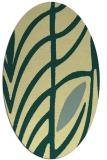 rug #539221 | oval blue-green natural rug