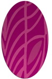rug #539225   oval pink abstract rug
