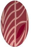 rug #539233 | oval pink rug