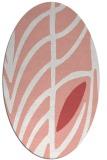 rug #539237 | oval abstract rug
