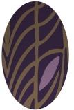 rug #539249 | oval purple popular rug