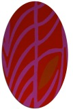 rug #539269 | oval red abstract rug