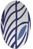 rug #539297 | oval white abstract rug