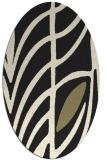 rug #539325 | oval black graphic rug