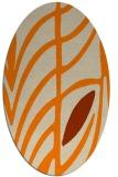rug #539333 | oval beige abstract rug