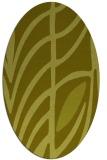 rug #539337   oval light-green abstract rug