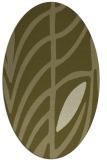 rug #539349 | oval light-green rug