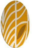 rug #539353 | oval light-orange graphic rug