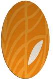 rug #539361 | oval light-orange graphic rug