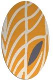 rug #539365   oval light-orange abstract rug