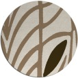 rug #539874 | round abstract rug