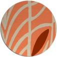 rug #539917 | round beige graphic rug