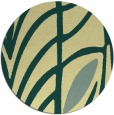 rug #539925 | round blue-green natural rug