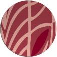 rug #539937 | round pink rug